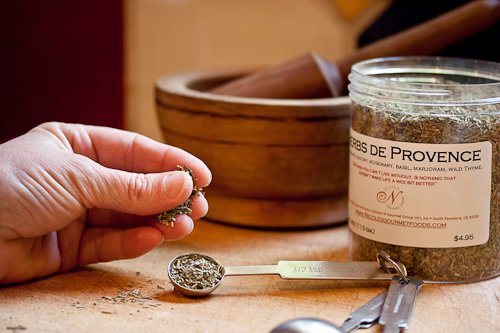 A regular pinch of dried herbs