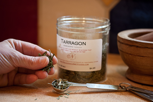 A pinch of leafy dried herb, which amounts to a generous 1/2 teaspoon