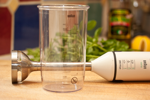 Here's my immersion blender, but it's not essential
