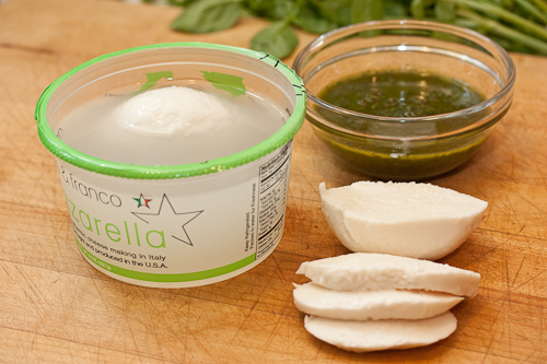 My creaky Italian market was closed (see how creaky?), so this mozzarella came from Whole Foods