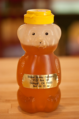 "You can also ""eyeball"" the honey straight from your honey bear -- like mine"