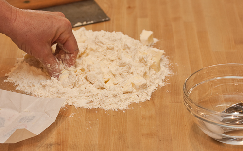 I keep pulling in more flour as I go, but it won't all get pinched into the butter