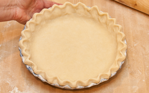 At this point, refrigerate the crust for at least half an hour, or place in the freezer until well-chilled